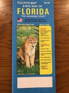 Florida folding map